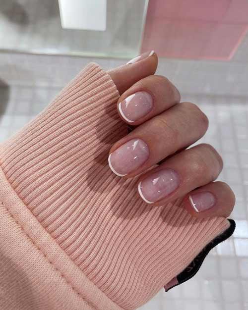 negative space short nails