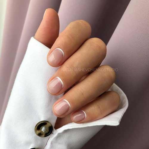 Negative space manicure fashion ideas