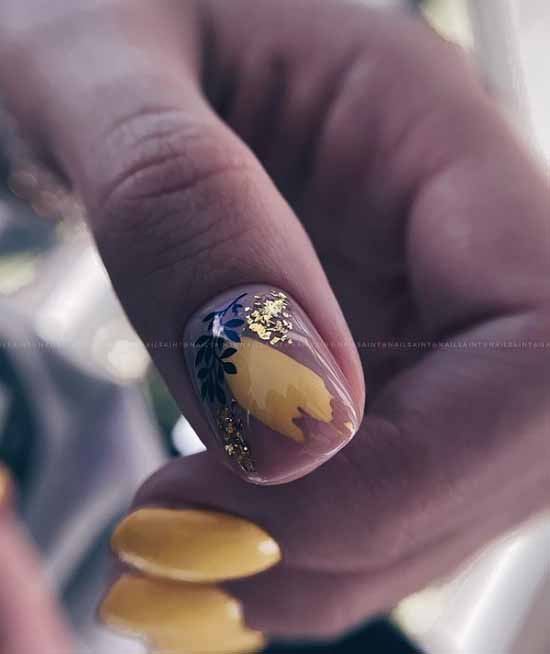 Negative space nail design
