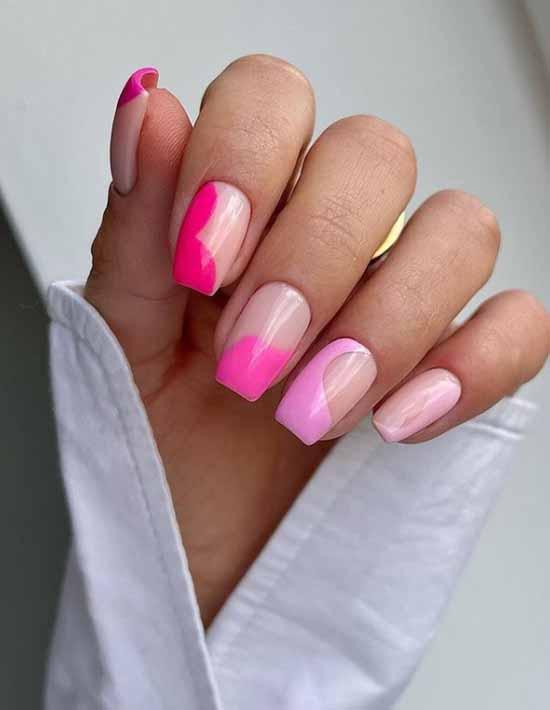 Beautiful manicure with negative space
