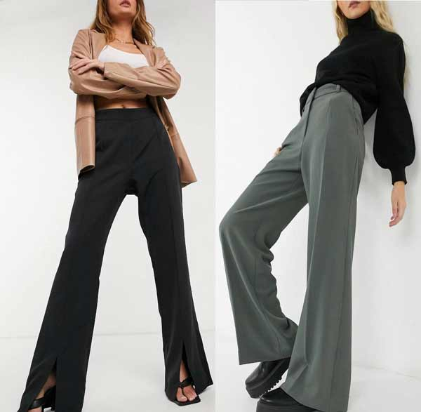How to wear slit wide leg pants