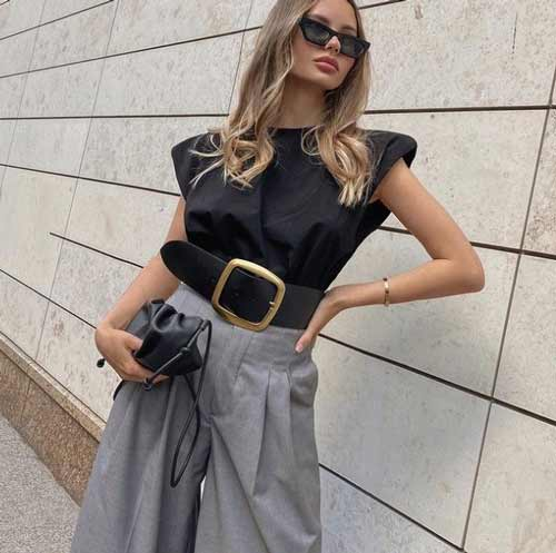 Wide trousers with what to wear, photos, ideas for images