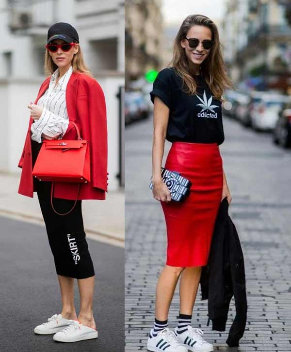 Fashionable pencil skirts spring-summer