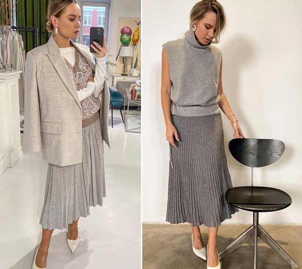 Fashion pleated skirts