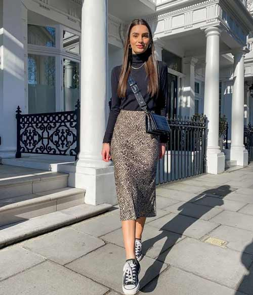 Fashionable skirts leopard print