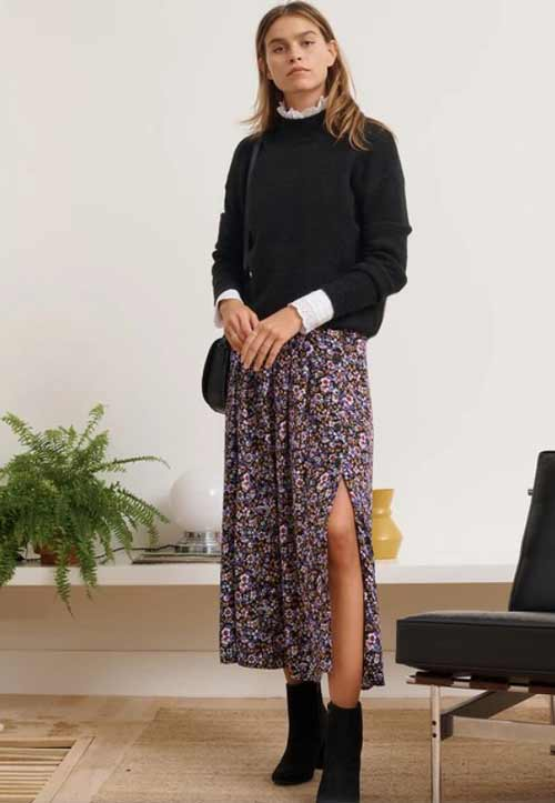 Fashionable floral skirts