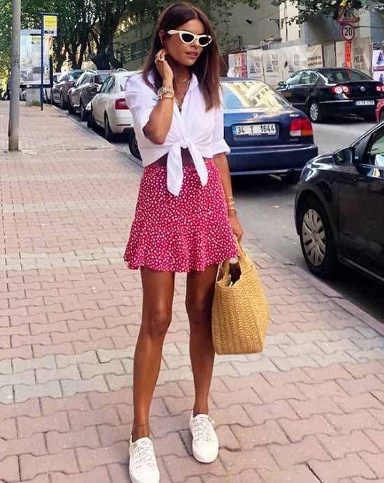 Summer look with a skirt