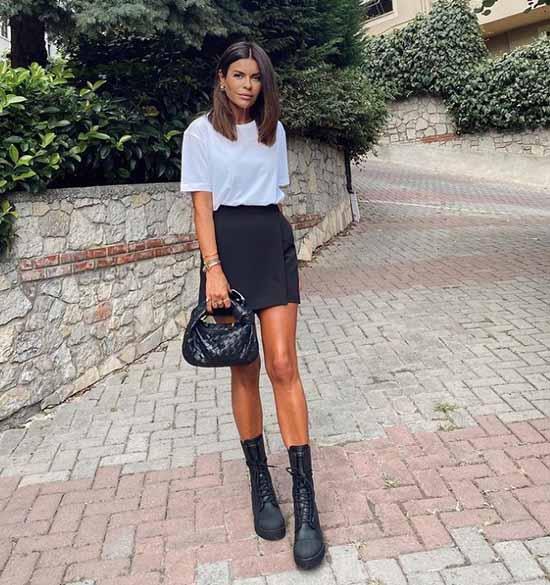 Fashionable short skirts