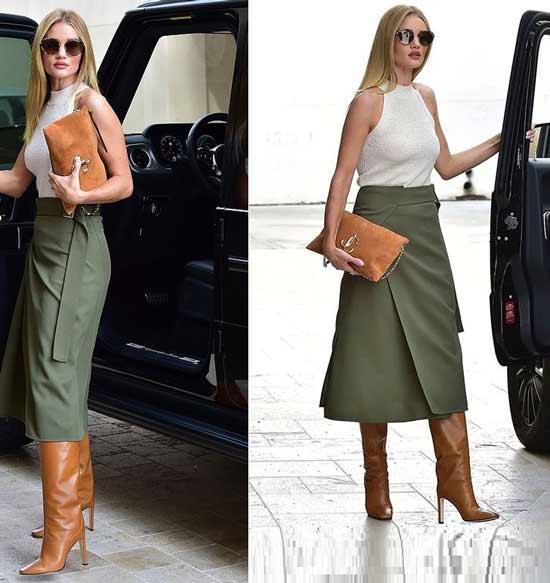 Fashionable mini wrap skirt
