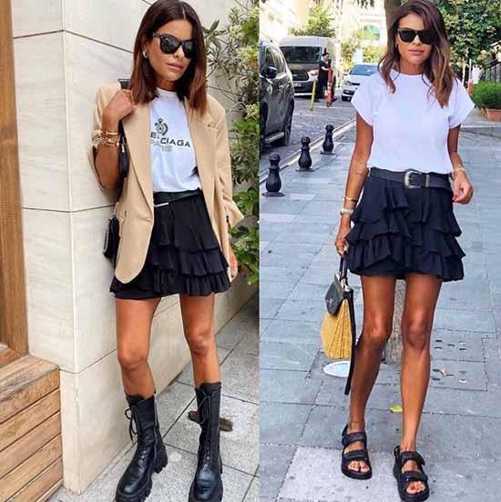 Mini skirt length