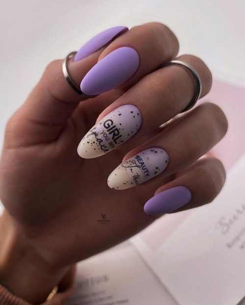 Delicate purple manicure