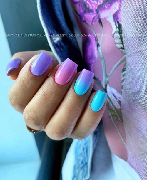 Colorful design in pastel colors