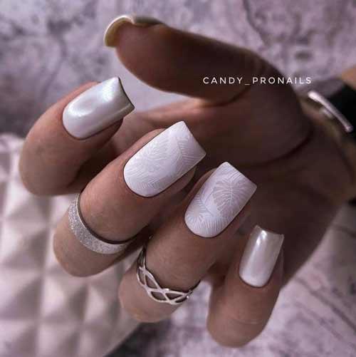 Matte pastel manicure