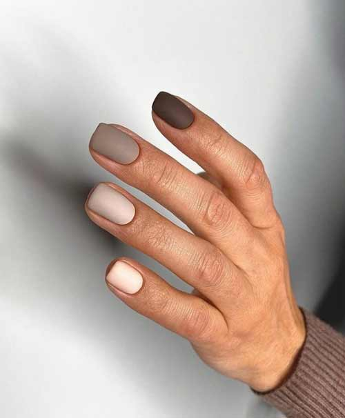 Light brown manicure