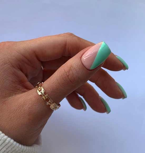 French mint manicure