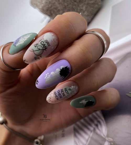 Matte delicate manicure