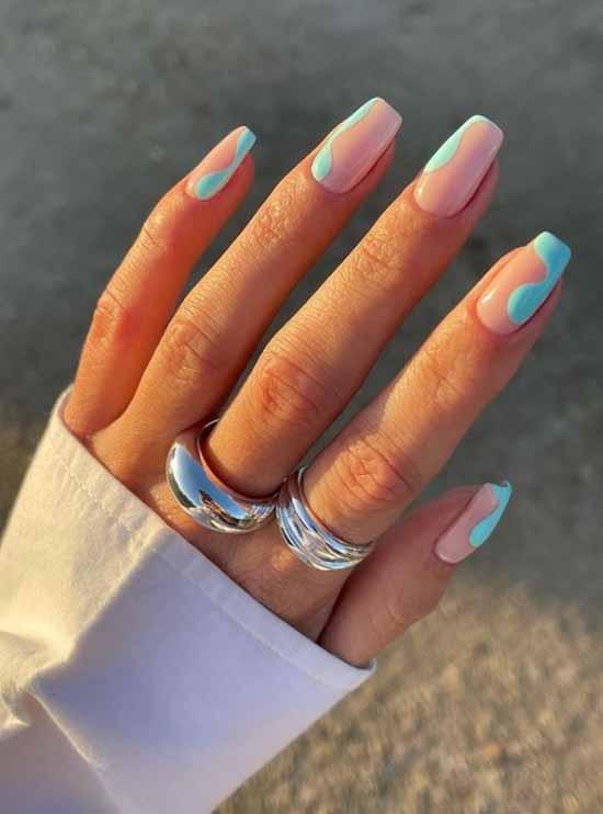 Beautiful manicure color pastel