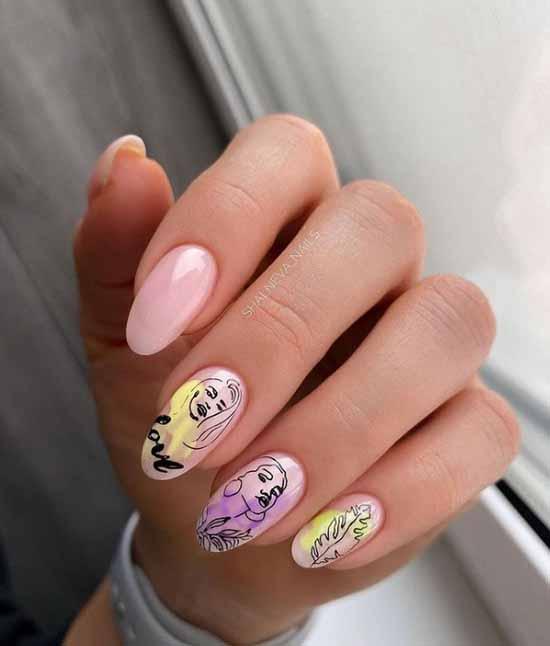 Delicate manicure