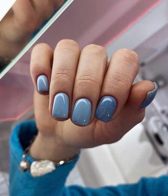 Beautiful pastel manicure in the photo