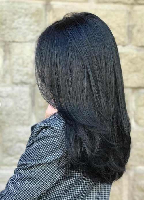 Long haircut for over 50