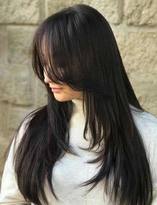 Haircut ladder long hair
