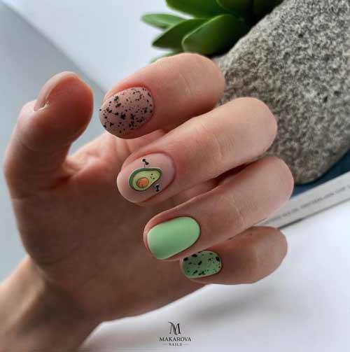 Summer short nail design
