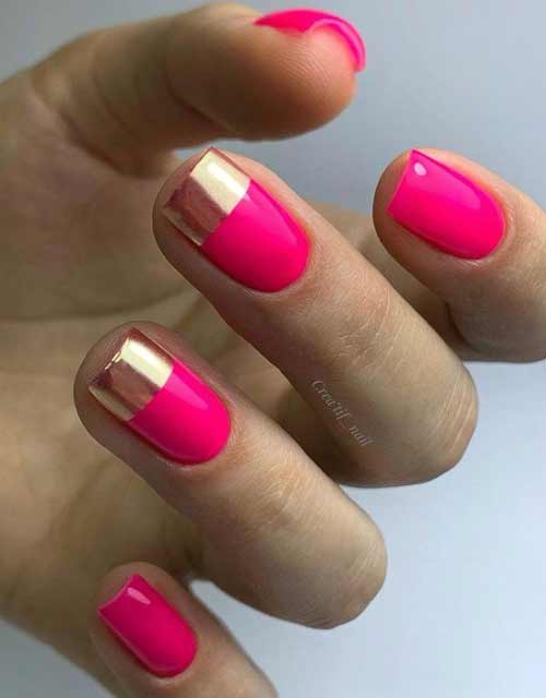 Bright French manicure summer