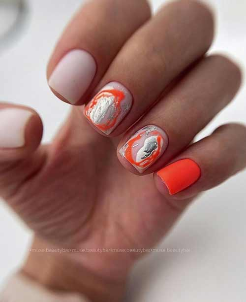Fashionable summer manicure for short nails