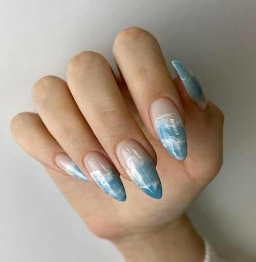 Summer nail design long nails