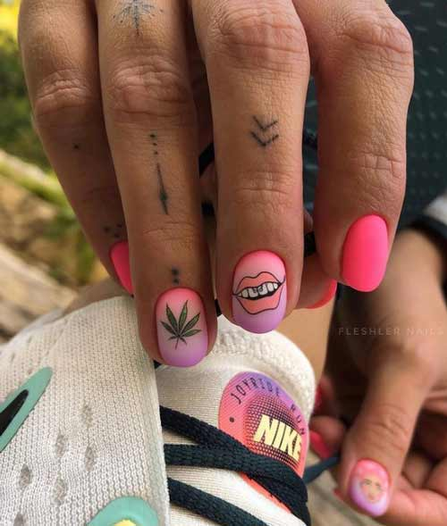 Neon manicure