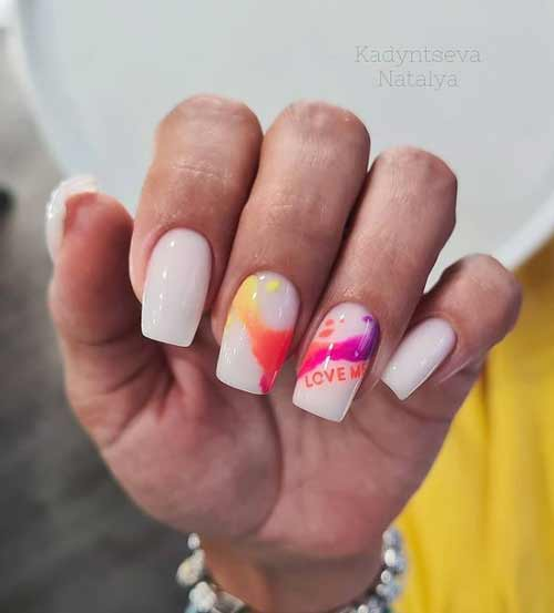 Summer nails with designs