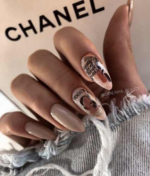 Nude sliders and foil