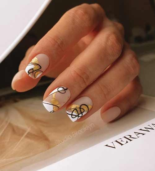 Nude with gold foil