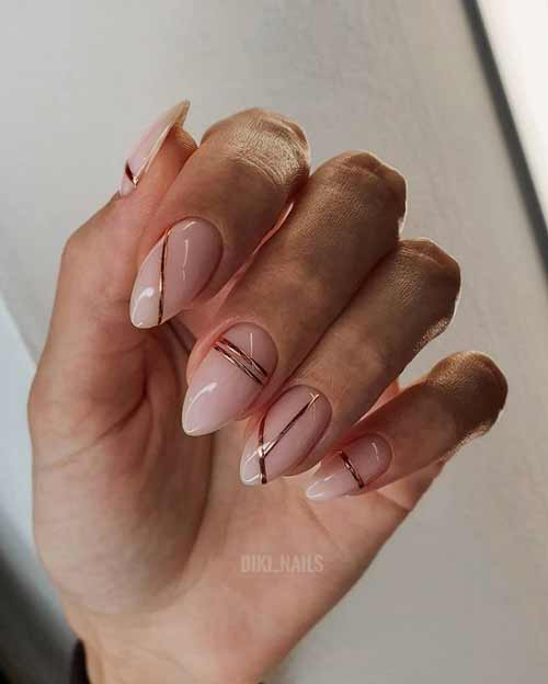 Nude and foil strips