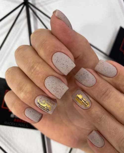 Matte nude with foil
