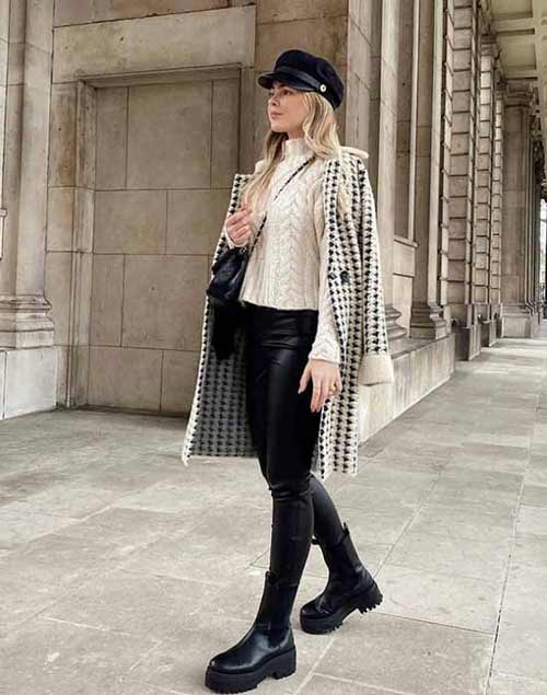 Leggings with coat