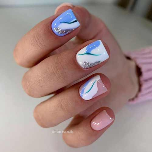 Manicure in pastel shades