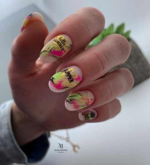 Summer nail design photo