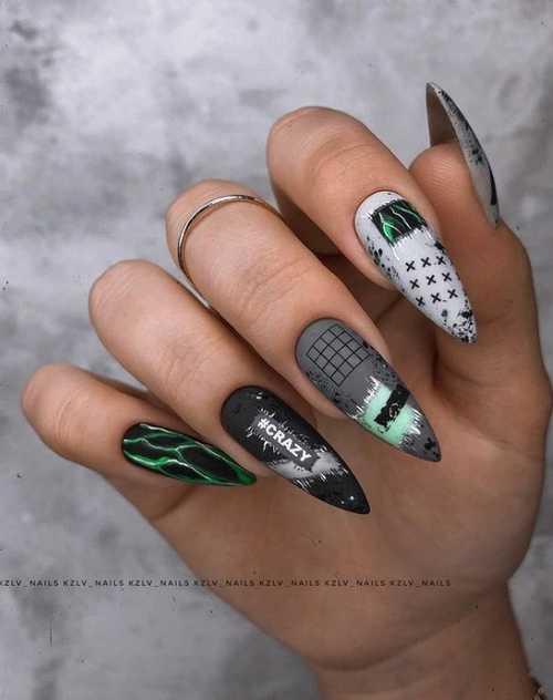Sharp gray nails