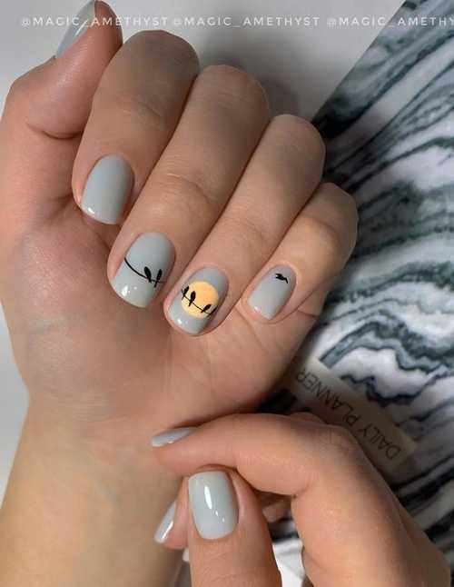 Gray manicure 2021-2022: design, nails in gray tones, photo