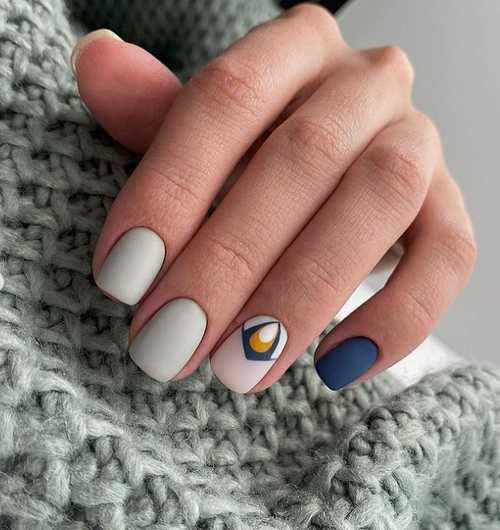 Matte gray on nails