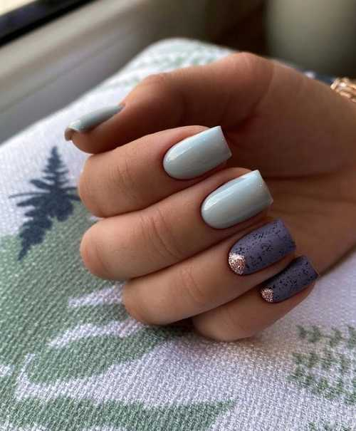 Two shades of gray nails