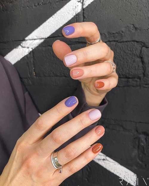 Multicolored spring nail design