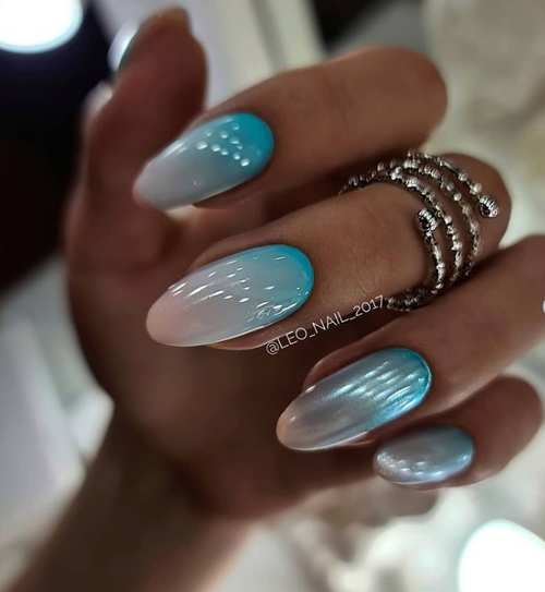 Spring manicure with rub