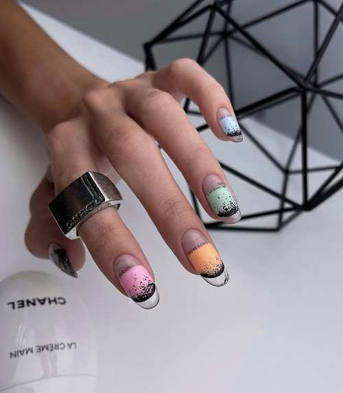 French with transparent tips