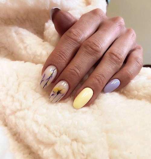 Gentle spring manicure