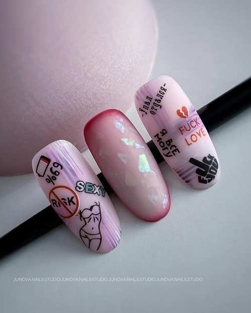 Youth drawings on nails