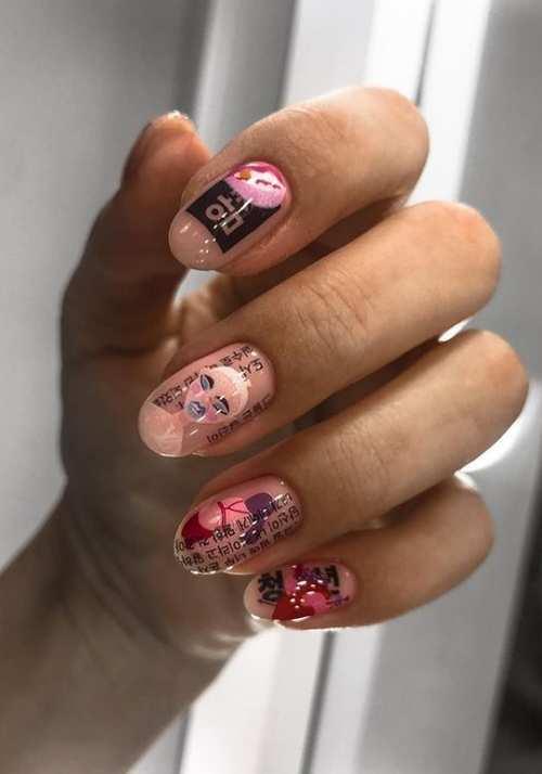 Youth spring nail design