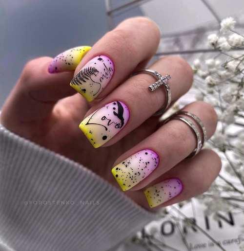 Milky Gradient Nails
