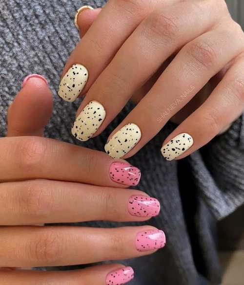 Spring design according to the shape of the nails